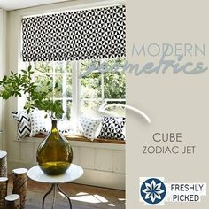 Geometrics were popular in the 70's and they are back in a big way! Stuart Graham Fabrics recently launched collection, Cube, is stunning!  Keep an eye out for simpler and larger patterns that give a more refined look than their traditional counterparts, especially when paired with saturated colors for a modern take on seventies style.  #beachhousedecor #geometrics #interiordesigntrends