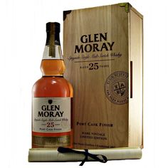 Glen Moray 25 year old Port Cask Finish Single Malt Whisky available to buy online at specialist whisky shop whiskys.co.uk Stamford Bridge York
