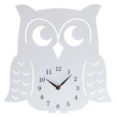 Zegar biały SOWA