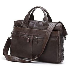 Nesitu High Quality Cross Body 100% Guarantee Genuine Leather Men Messenger Bags Handbags Laptop Bag Briefcase #M7122