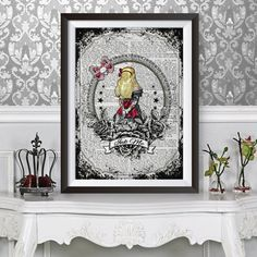 Alice in wonderland tattoo sleeves poster art by TheAncientWords