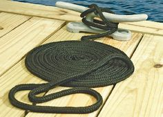 Seachoice Double Braid Nylon Dock Line- Black