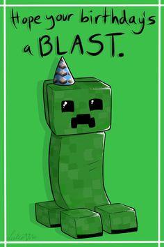 HAPPY HAPPY BIRTHDAY,REED!! Creeper Birthday Card by Lucieniibi on deviantART