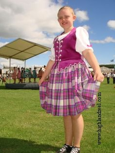 Aboyne with fuschia vest Scottish Highland Dance, Stewart Tartan, Dance Costumes, Purple, Pink, Dancing, Vest, Vintage, Dresses