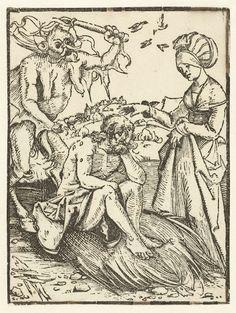 Job op de mestvaalt, Albrecht Dürer, 1509  #PublicDomain