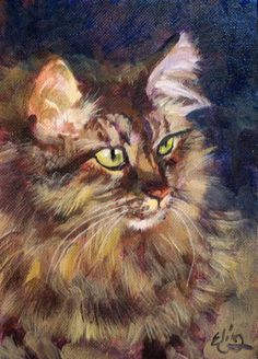 cat+artwork | The Daily Paintings and Postcard-Sized Sketches in Oils and Acrylics