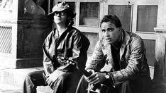 Sidney Lumet and Marlon Brando on the set of ;The Fugitive kind 1960