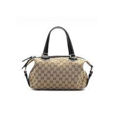 Gucci Women Black Top Handle 203526:$228.6 - Gucci Clearance Outlet Gucci Outlet Online, Gucci Men, Travel Bags, Louis Vuitton Damier, Black Tops, Handle, Shoulder Bag, Beige