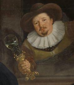 c.1639 Pays-Bas par Bartholomeus van der Helst rijksmuseum.SK-C-375 détail