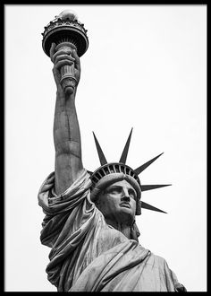 The Statue of Liberty in New York City 3 Art Print by Asar Studios - X-Small Statue Of Liberty Drawing, Statue Of Liberty Tattoo, Liberty Statue, Highland Beach, Patriotic Tattoos, Bull Tattoos, Liberty Island, Lower Manhattan, Black And White Pictures