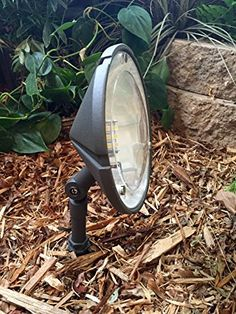 hampton bay low voltage black outdoor integrated led landscape well
