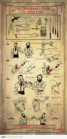 The Gentleman's Guide To Amputation.  Oh non , bon oui.