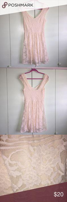 Hollister OFF WHITE dress Hollister laced dress💗 Hollister Dresses Midi