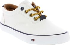 Dennis Oxford - Tommy Hilfiger | KidsShoes  #Boys #stylish and #casual #sneaker. Give him a #polished look with these #sneakers. #Velcro closures allow for easy slip on-and-off.  Synthetic materials for easy cleaning.  #KidsShoes #KS #KidsSizing #KidsSizeUp #KidsDollars #Kids #FreeShipping #ChildrensShoes #ChildrensFashion #FashionFootwear #KidsFootwear #TH #TommyHilfiger #Sneakers #White #Cream #THFlag #Velcro #VelcroClosure #Comfy #Classic #Stylish #Trendy