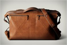 Now that's a beautiful man bag I'd use.  3FOLD MULTI-USE BAG | BY HARD GRAFT €718