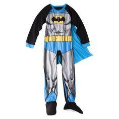 Batman Boys' Footed Blanket Sleeper w/ Cape