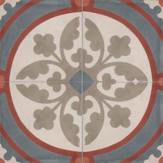 Moroccan Encaustic Cement Tile Pattern 09a