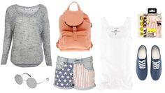 festival look - america flag shorts