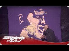 Music Inspired CMYK Painting - #AGT Season 7 - David Garibaldi Las Vegas Performance / America's Got Talent
