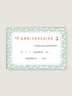 10 petites Cartes d'anniversaire : Lavandine bleu