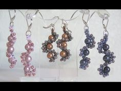 Video: Whirlygig Earrings with Jill Wiseman. #Seed #Bead #Tutorials