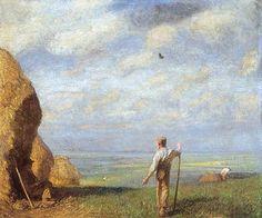 Green Fields - George Clausen | Wikioo - The Encyclopedia of Fine Arts