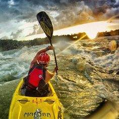 GoPro rockstar @rushsturges taking his last run on Bujagali Falls on the White Nile in Uganda before it was dammed.