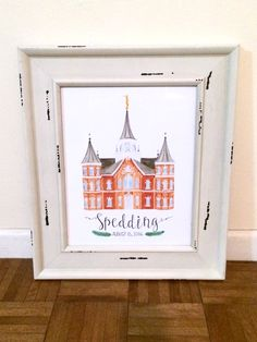 Provo City Center LDS Temple Watercolor Print || custom || personalized || mormon || anniversary || wedding || gift || art || mormon || draw by…