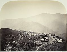 The Town on the Hill, New Almaden Carleton E. Watkins (American, 1829–1916) -- This is where the quicksilver (mercury) that was used to extract the gold was mined.