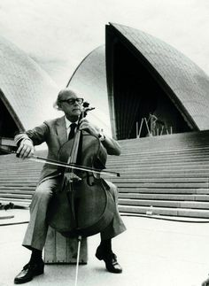 Archive photo of Jørgen Varming of Steensen Varming in front of Sydney Opera House. Varming is a mechanical engineers who helped build The Opera House. | http://www.yellowtrace.com.au/2013/10/01/design-news-october-2013/