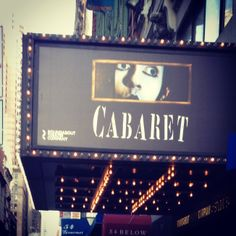 Roundabout Theater's Cabaret the musical playing at Studio 54 (Apr 24, 2014 - Mar 29, 2015)