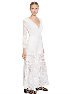 TEMPERLEY LONDON WIDE LEG EMBROIDERED LACE JUMPSUIT, IVORY. #temperleylondon #cloth #jumpsuits