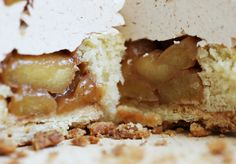 organic apple pie cupcake filled with caramelized apple compote #organic #cupcake #applepie #pie www.sweetcharllote.com