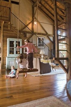 Honey, wouldn't it be cool to have a swing in the house? Who doesn't love to swing, lol :):