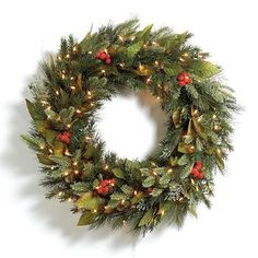 Pre-lit Woodland Christmas Wreath