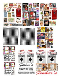 1:43 DECALS FOR MATCHBOX & SMALL MODEL DIORAMAS  DINER
