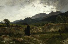 polishartandtea:  Wojciech Gerson 1831-1901 (Polish), Cemetery in the mountains, oil on canvas, 1894