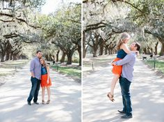 Boone Hall Plantation Engagement Session with Taylor and Mark | Paige Winn Photo