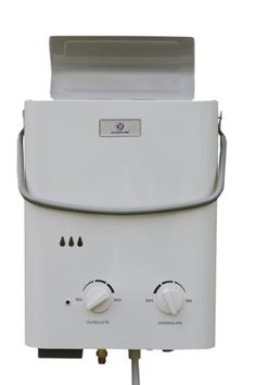 The Eccotemp L5 is the hottest portable tankless water heater and shower on the market today. This compact and lightweight heater allows for hot water virtually anywhere. The unit comes with a shower head and hose, a garden hose adapter and a LP regulator and hose