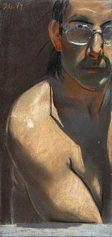 Johannes Grutzke, Self-portrait, 1974. Studied with O.K.