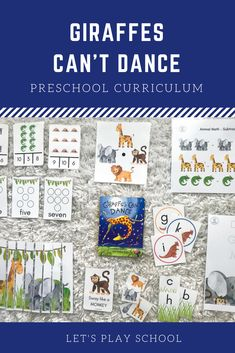 Let's Play School Preschool Curriculum - 3 Year Old Activities, Book Activities, Preschool Activities, Preschool At Home, Preschool Curriculum, Homeschool, Pre K Age, Giraffes Cant Dance, Dance Books