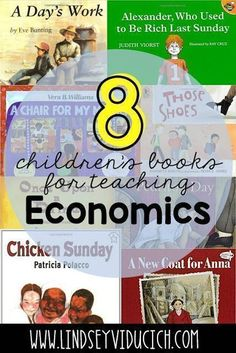 Project Based Learning in the Primary Classroom: Part 2 Here are 8 children's books that make economics come to life (and teach some important character skills, too!) Perfect for your kindergarten, first grade, or second grade classroom. Economics For Kids, Teaching Economics, Economics Lessons, Economics Books, School Lessons, Social Studies Book, 3rd Grade Social Studies, Social Studies Activities, Teaching Social Studies