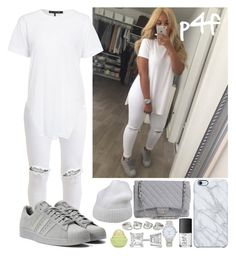 """""""Passion 4Fashion: White-On-White"""" by shygurl1 ❤ liked on Polyvore featuring Chanel, Forte Forte, FiveUnits, adidas, Uncommon, NARS Cosmetics, Kate Spade, Allurez and Eos"""