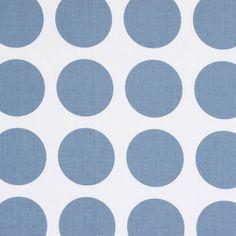 Fenton Dots 1 - Cotton - blue grey