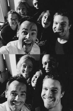 Paul Blackthorne, Stephen Amell, David Ramsey, Willa Holland & Susanna Thompson #arrow