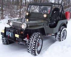 Snow wheelin' in a sweet 1951 CJ3A!