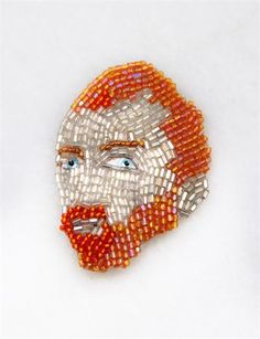 Van Gogh beaded brooch by Marianne Batlle