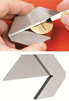 "Center Square for finding the center mark of round, square and octagonal pieces up to 5"". ($28.30)........D."