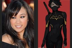 Ellen Wong as Black Bat or Batgirl / Cassandra Cain  Ellen Wong looks the part and is an up and coming actress who has been in Scott Pilgrim vs The World and if she played Cassandra Cain this would be her breakout role