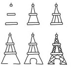eiffel tower drawing step by stephow to draw on food bite size bastille day cookies the sewclra travels worlds
